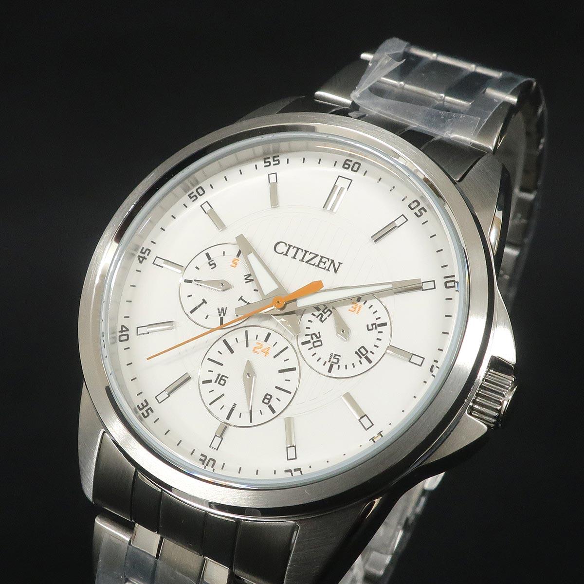 CITIZEN シチズン メンズクォーツ時計 AG8340-58A ホワイト